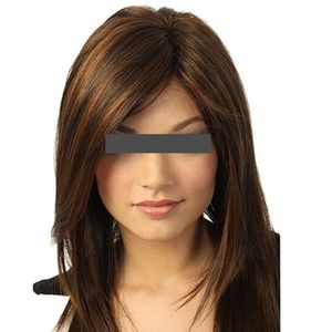 Accessories - Dark brown hair highlights wig